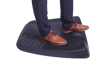 Antim/üdigkeitsmatte Schwarz Arbeitsplatzmatte f/ür Sitz-Steh-Schreibtisch Komfort Matte ergonomisch geformt f/ür B/üro Flexispot DM1 Anti-Erm/üdungsmatte Anti Fatigue Fu/ßmatte