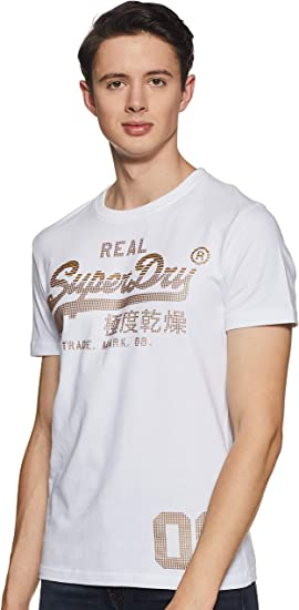 TALLA M. Superdry Vintage Logo CNY tee Camiseta de Tirantes para Hombre