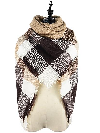 9a6454519482c American Trends Ladies Fall Winter Soft Plaid Tartan Stylish Warm Scarf  Large Blanket Gorgeous Wrap Shawl