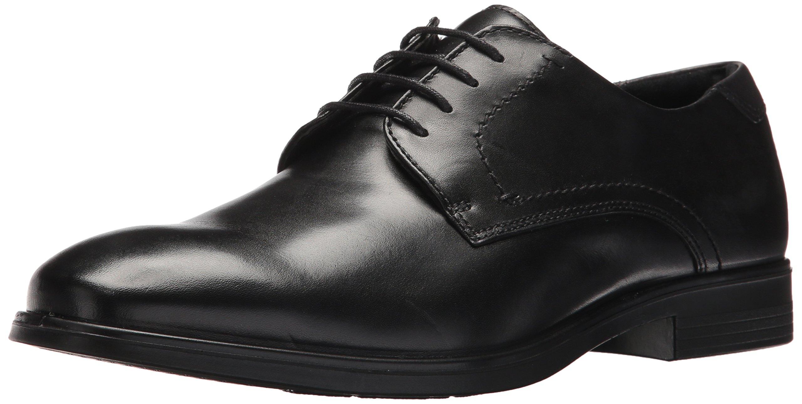 ECCO Men's Melbourne Tie Oxford, Black/Magnet, 40 EU/6-6.5 M US