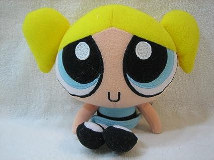 Amazoncom Powerpuff Girls Bubbles 6 Plush Toys Games