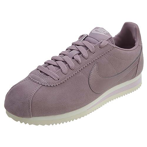 Zapatillas Nike - Wmns Classic Cortez Suede Morado/Morado/Beige Talla: 40,5: Amazon.es: Zapatos y complementos