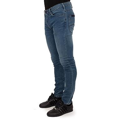 c280a48e08fb2 Emporio Armani 3Z1J06 Slim Fit Stone Wash Denim Blue Jeans W36 - L32 Denim  Blue
