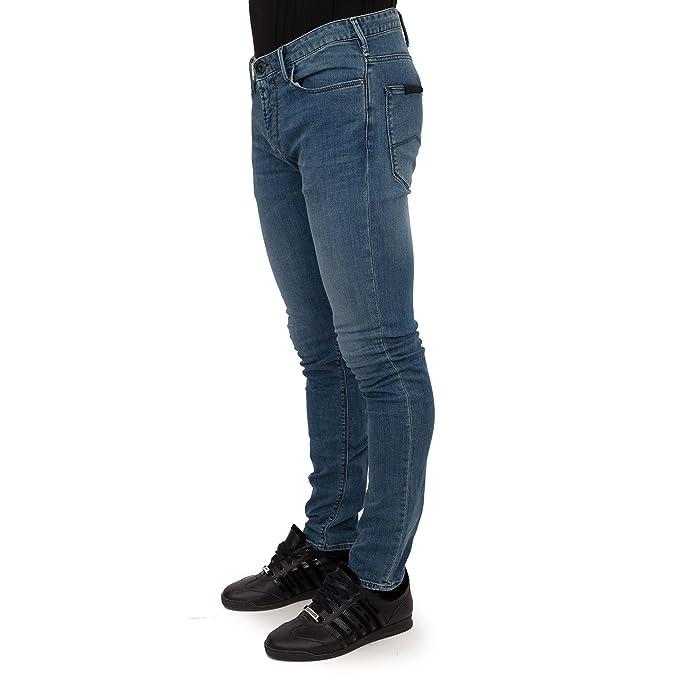 buy online 2a6a3 a54ec Emporio Armani UOMO J06 Jeans vestibilità slim blu denim ...