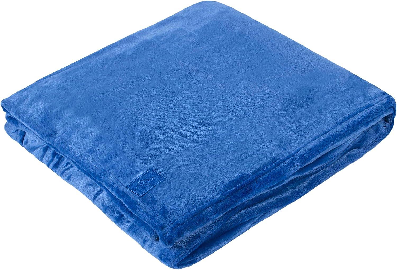 1.7 Tog Heat Holder Thermal Soft Fleece Blanket in Mulled Wine 180cm x 200cm