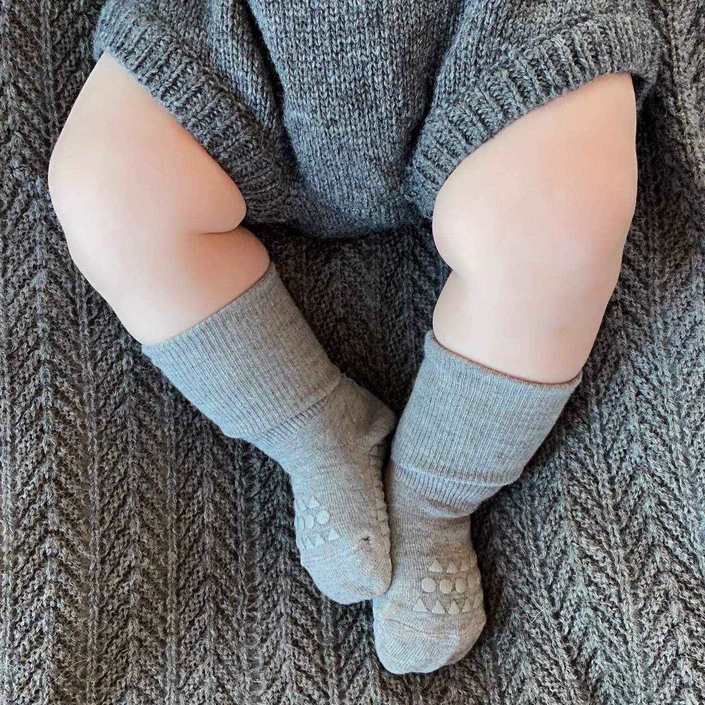 gris melange GoBabyGo Calcetines antideslizantes 6-12 meses