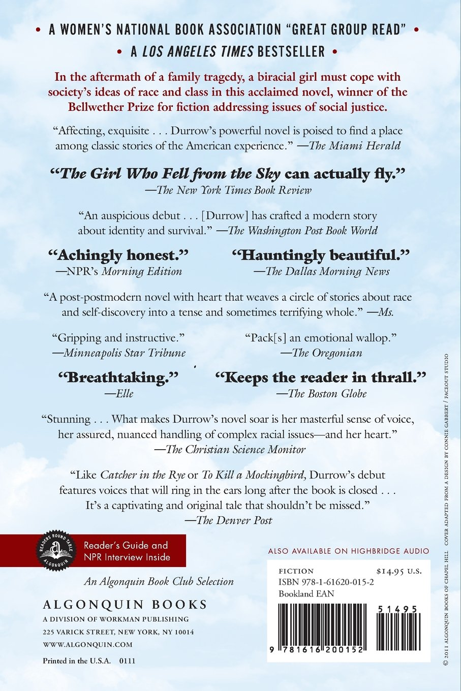 The Girl Who Fell From The Sky: Heidi W Durrow: 9781616200152: Amazon:  Books
