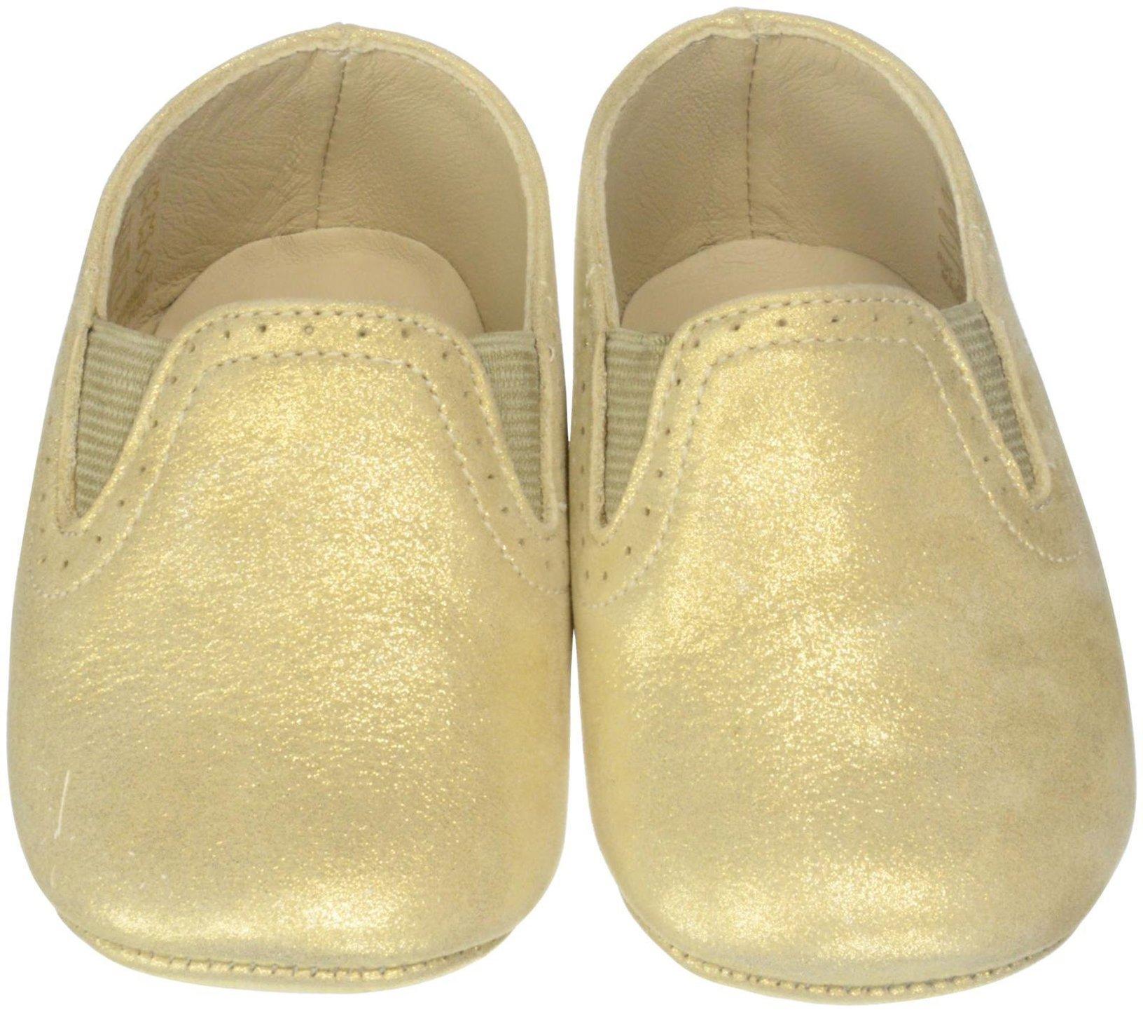 Elephantito Girls' Baby Sleepers-K Crib Shoe, Gold, 2 M US Infant by Elephantito