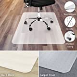 "Office Chair Mat for Hardwood Floor | Opaque Office Floor Mat | BPA, Phthalate and Odor Free | Multiple Sizes available- 30"" x 48"""