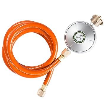 Ultranatura Regulador de Baja Presión con Manguera Incluida, Regulador de Gas para Barbacoa o Calentadores