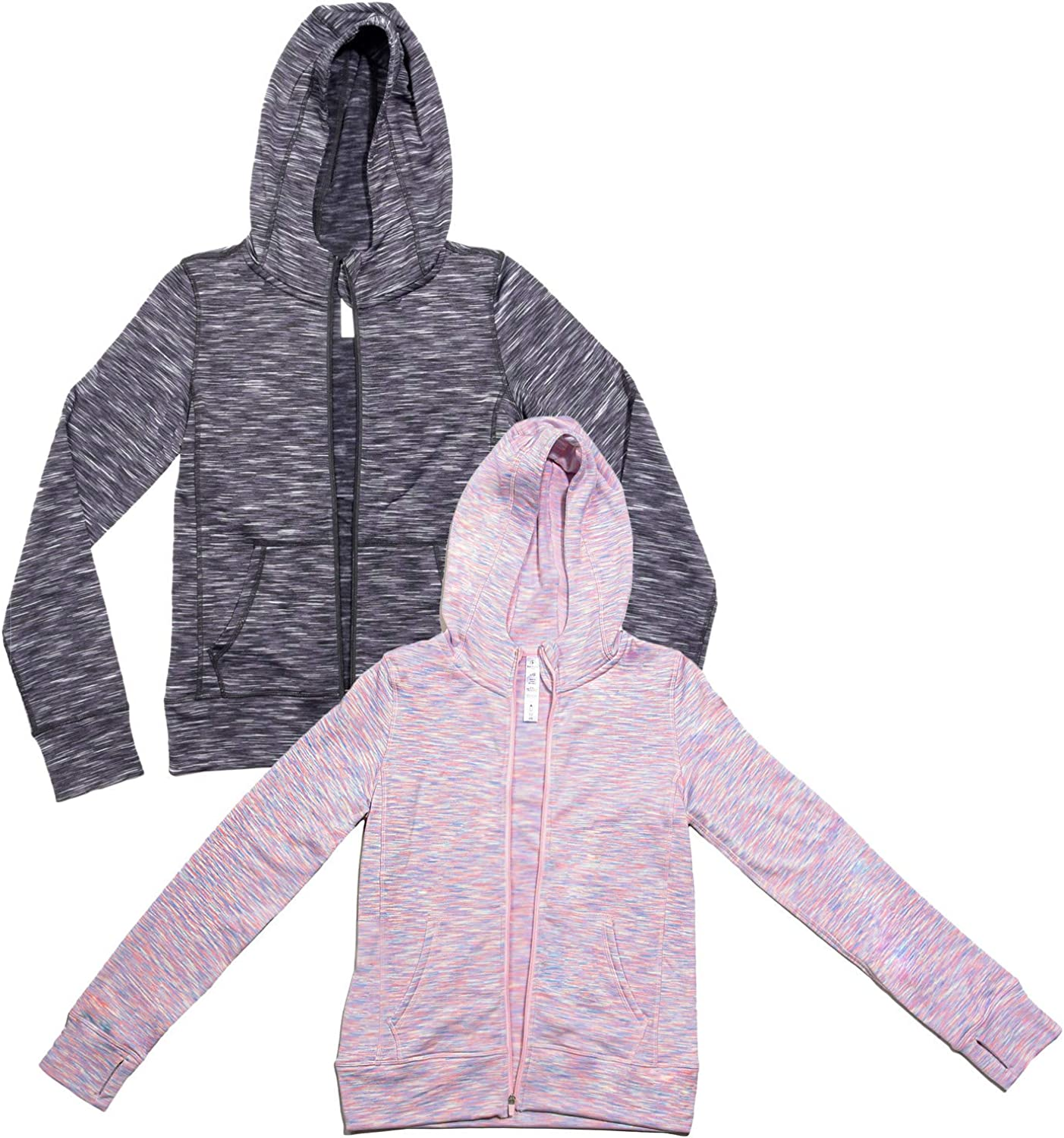90 Degree By Reflex Girls 2 Pack Brushed Inside Hoodie Jacket