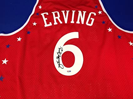 pretty nice c3b8d 281ba Julius Erving Autographed Jersey - Dr J East All Star Adidas ...