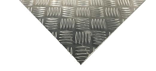 10 x 10 cm bestell-dein-Blech Metall Aluminium Riffelblech duett 2,5//4,0 mm stark 100 x 100 mm Tr/änenblech Warzenblech Zuschnitt aus Alu Blech geriffelt walzblank natur Zuschnitt nach Ma/ß Gr/ö/ße