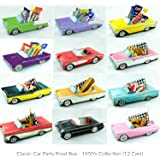 12 Classic Car Party Food Boxes - 1950's Collection