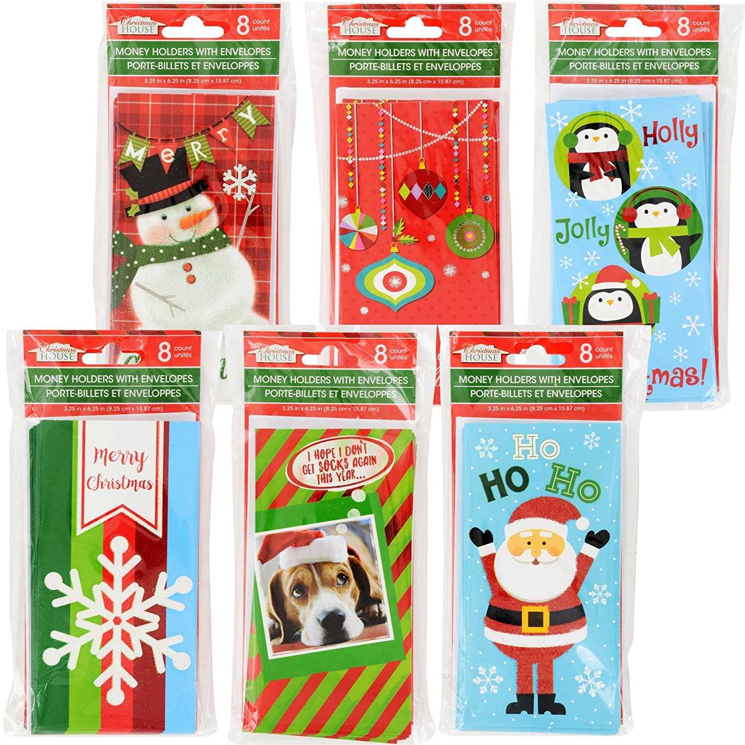 Amazon Set Of 12 Christmas Money Card Holders Assortment Of