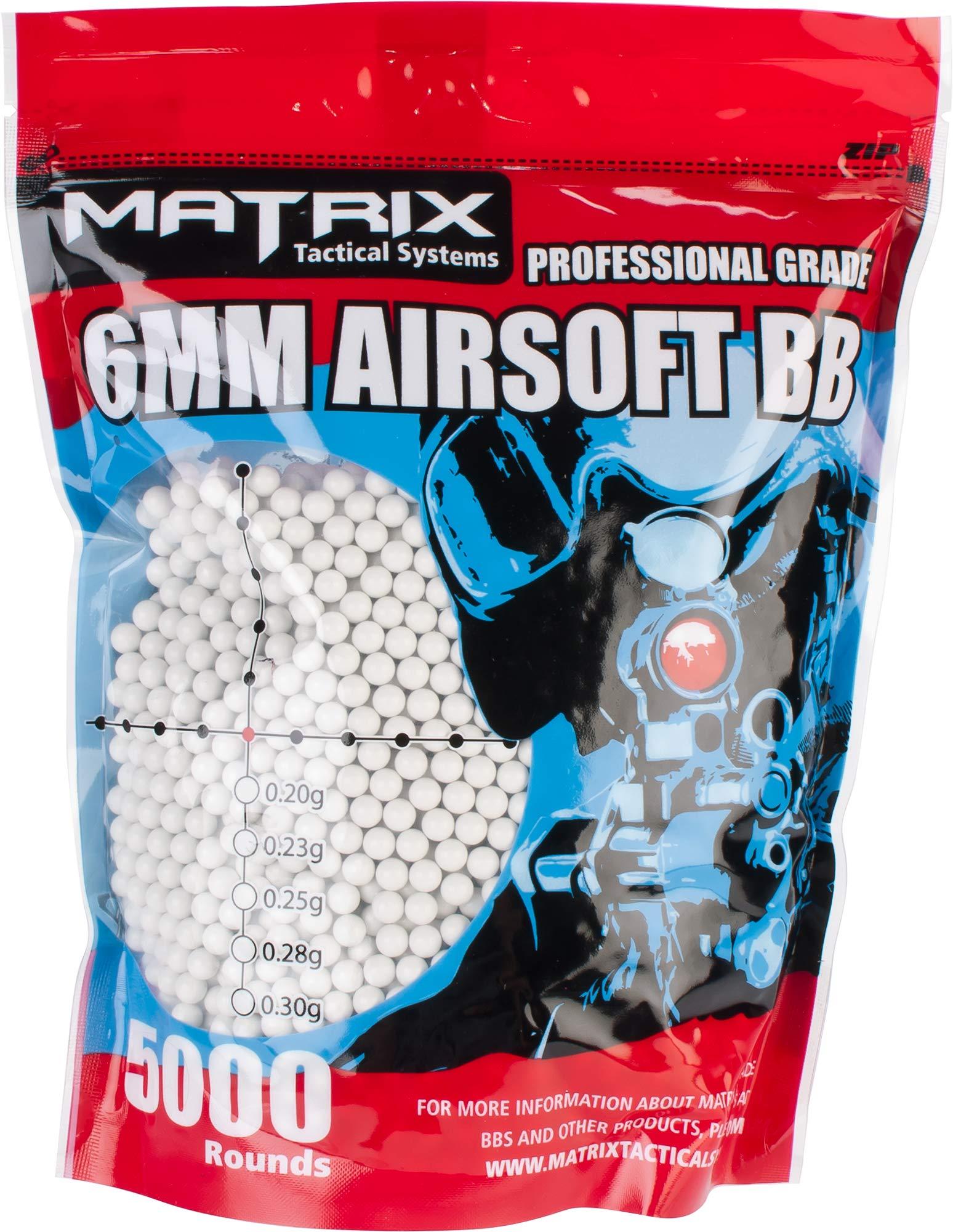 Evike Matrix Match Grade 6mm Airsoft BBS - 0.30g / 5000 Rounds/White - (PID: 27675)