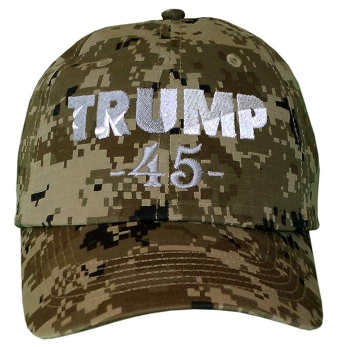 5436ec344 Amazon.com: TRUMP 45 ~ CAMO ~ Make America Great Again Cap ~ Trump ...