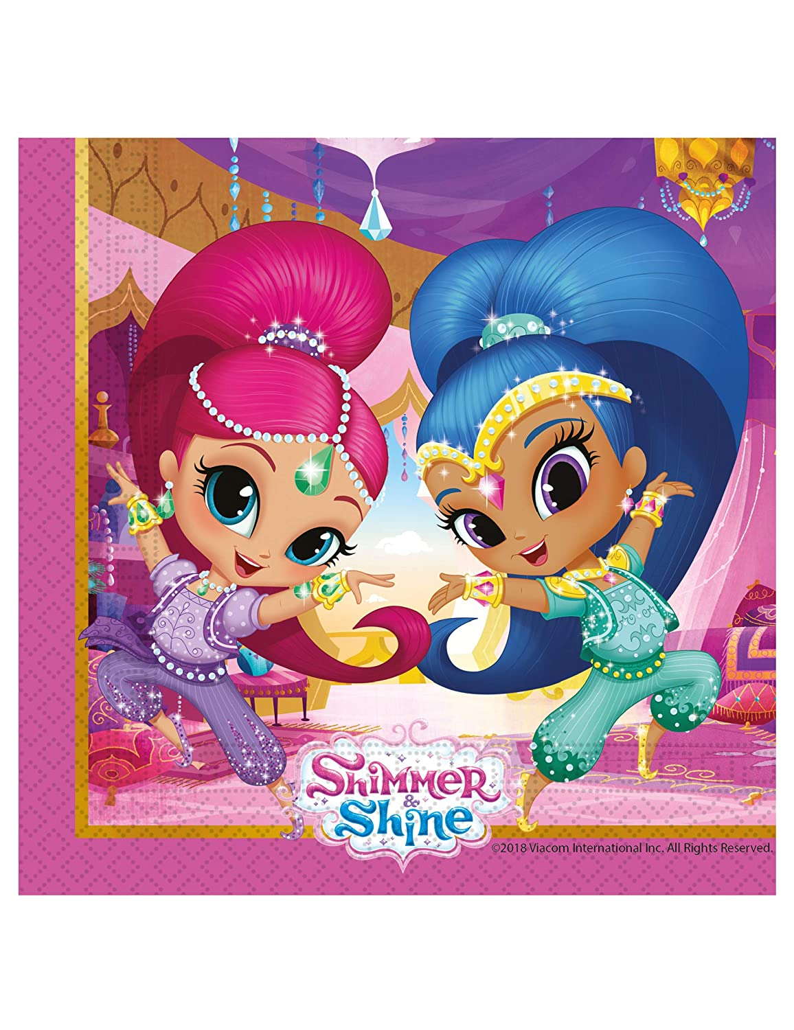 COOLMP - Lote de 12 servilletas Shimmer and Shine 33 x 33 cm ...