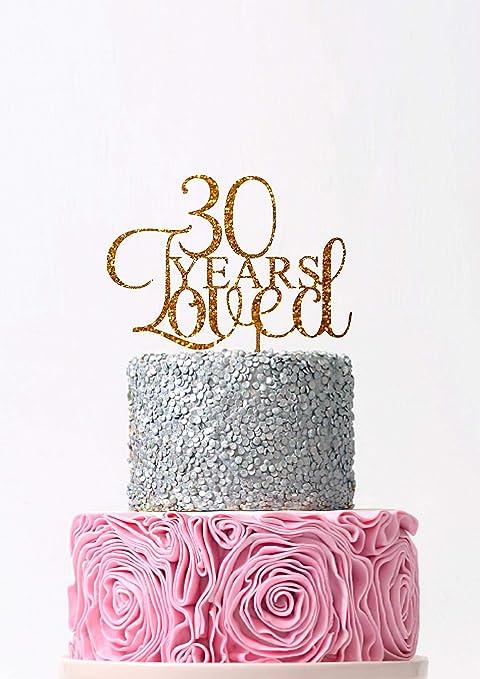 Decoración para tarta de 30 años de cumpleaños con texto en ...