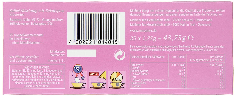 Meßmer Salbei 25 TB, 2er Pack (2 x 43,75 g Packung): Amazon.de ...