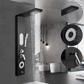 Duschpaneel Duschset Thermostat Regendusche Duscharmatur Dusche Tropenbrause TOP