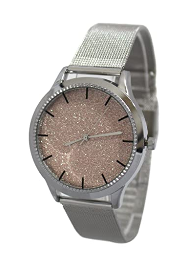 Reloj mujer malla Milanaise Silver Collection Crystalline