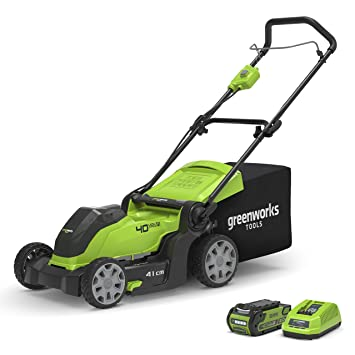 Greenworks 2504707UA Cortacésped Inalámbrico, 40 V, Verde: Amazon ...