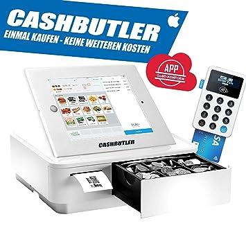 Cash Butler Deluxe ALL IN ONE multifunción kasse Sistema con recibos Caja registradora EC tarjeta lector Tablet Carcasa iPad 2 3 4 completa kasse Software ...