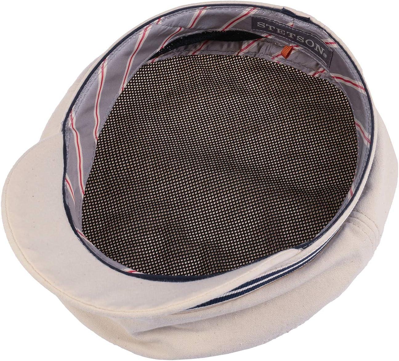 Baumwollcap mit Schirm Fr/ühling-Sommer Stetson Cotton Riders Elbsegler Elbseglerm/ütze Schifferm/ütze Baker-Boy-M/ütze Kapit/änsm/ütze Damen