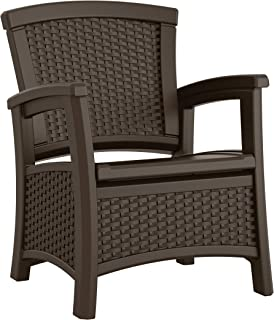 product image for Suncast BMCC1800 EMW8862948 Elements Club Chair with Storage-Lightweight, Resin, All-Wea, Java