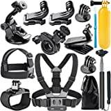 NEEWER 12-in-1 Action Camera Accessory Kit for GoPro Hero Session/5 Hero 1 2 3 3+ 4 5 6 7 SJ4000 5000 6000 DBPOWER AKASO VicTsing APEMAN WiMiUS Rollei QUMOX Lightdow and Sony Sports DV and More