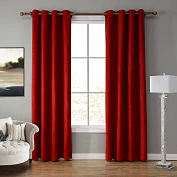 LOHASCASA Temporary Window Blackout Curtains Narrow Large Grommet Blocking Curtain 1 Panels Drapes For Bedroom