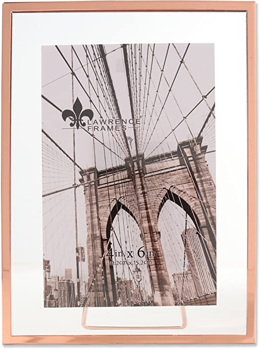 New Photo Frame Picture Frames Copper Pack Of Two 4x6 5x7