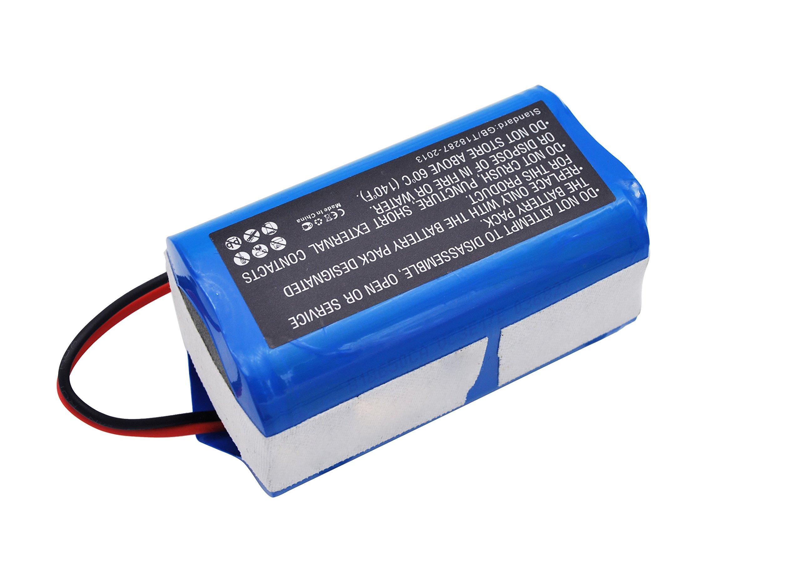 CameronSino Replacement Battery for DIBEA/ECOVACS/ILIFE Vacuum Backup Battery 2600mAh /38.48Wh /14.8V,Blue
