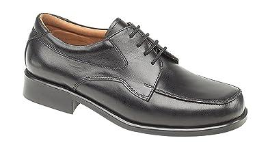 Amblers Herren Birmingham Leder Schuhe Schnürschuhe Halbschuhe Ziernaht  Schwarz 41