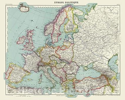 Amazon.com: Historic Map | 1936 Europe Politique. | Vintage ...