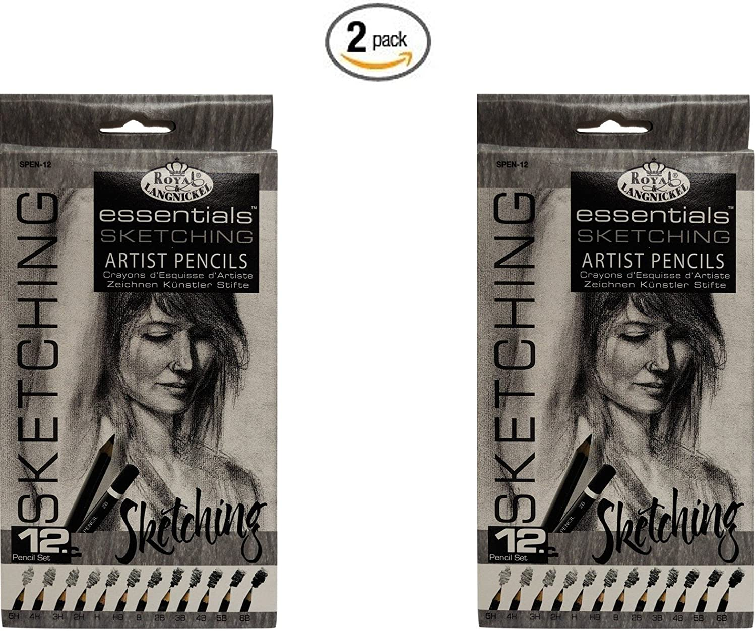 2 pack de 12 Lapices Sketching, Royal & Langnickel (xmp)
