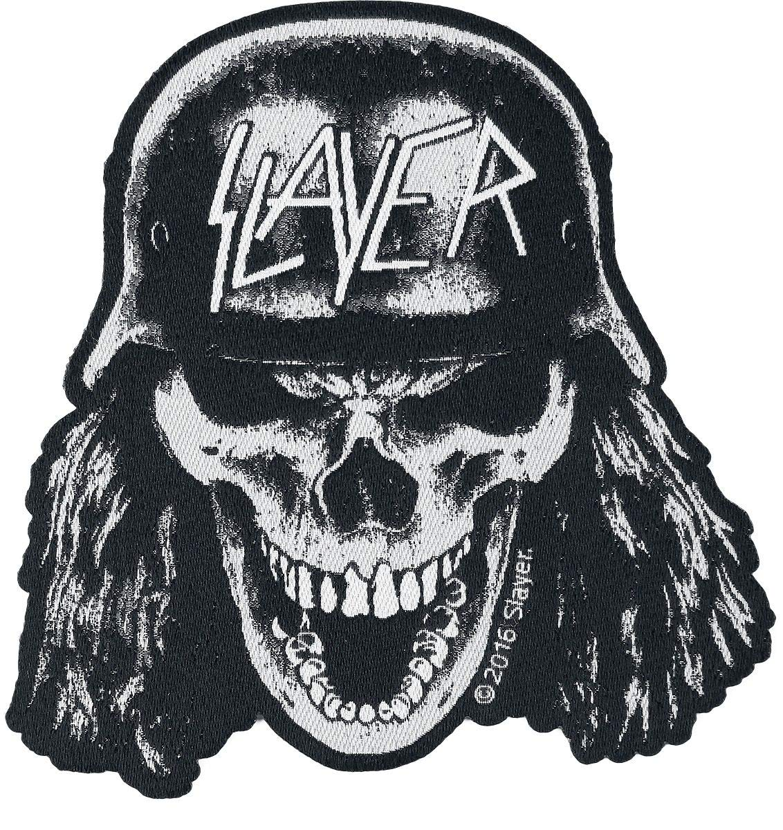 Slayer Wehrmacht Skull Cut Out Woven Patch Razamataz SP2881