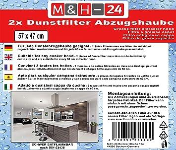 Filtro de Grasa para Campana extractora, Filtro Universal Recortable, 47 x 57 cm, para Campana extractora y Campana extractora: Amazon.es: Equipaje