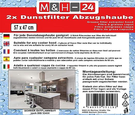 2-10 x Fettfilter zuschneidbar Dunstfilter Universal Fett Filter Abzugsfilter