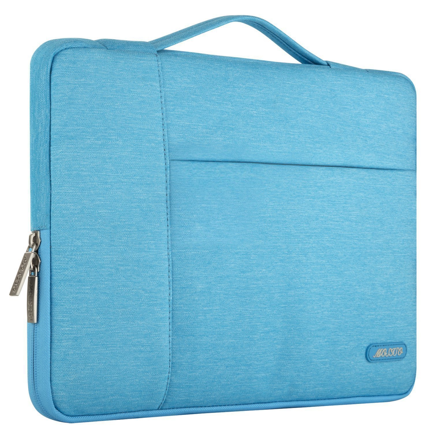 Bleu Marin Laptop Sleeve Multifonctionnel Sac Main Polyester MOSISO Housse Compatible MacBook Air 13 2018 A1932//MacBook Pro 13 A1989 A1706 A1708 USB-C 2018 2017 2016,Surface Pro 6//5//4//3