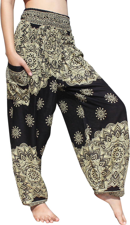Full Funk Smock Waist Viscose Aladdin Rayon Pants Mixed Retro Artworks