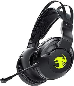 ROCCAT Elo 7.1 Air Wireless Surround Sound RGB Gaming Headset, Black