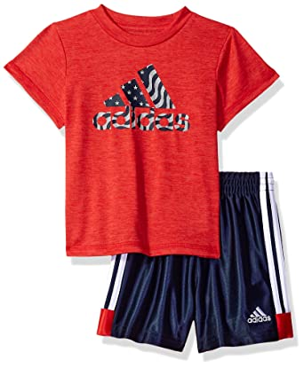 7b8e5ab36bad Image Unavailable. Image not available for. Color  Adidas Baby Boys Short  Sleeve Tee and Short Set ...