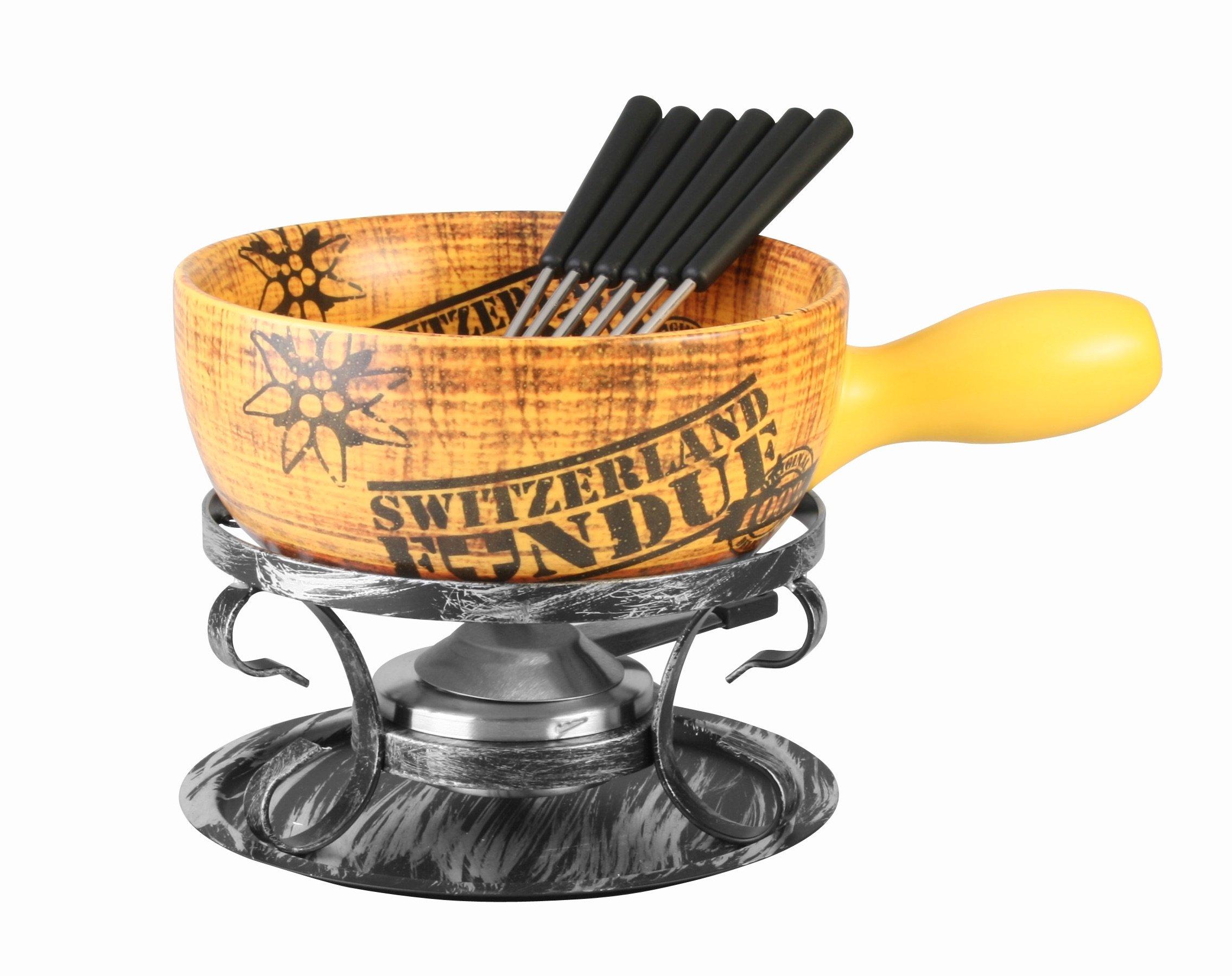 Artestia Ceramic Cheese Cooking (Fondue Set - Swiss Vintage) by Artestia