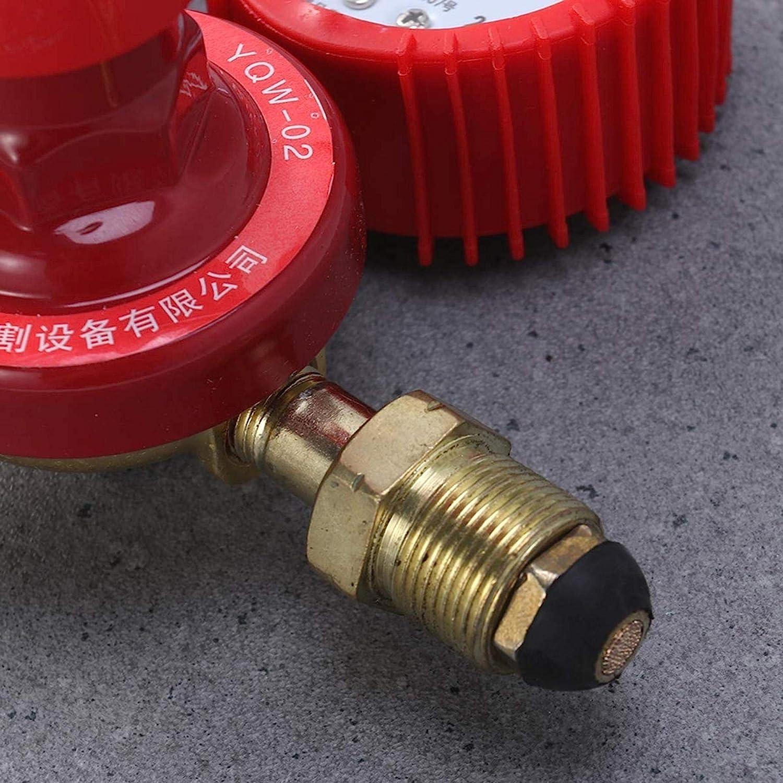 SALAKA 1PC Red CO2 Welding Pressure Reducer Gauge Gas Bottle Regulator High Pressure Dual Gauge Mixed Gas Regulator