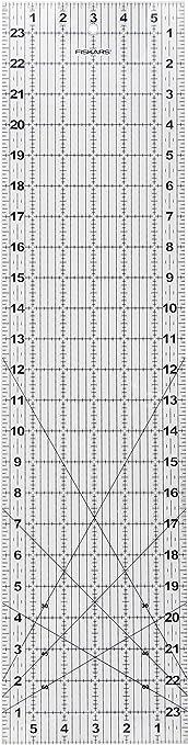"""Fiskars 6/"""" x 24/"""" Acrylic Ruler 187620-1001"""