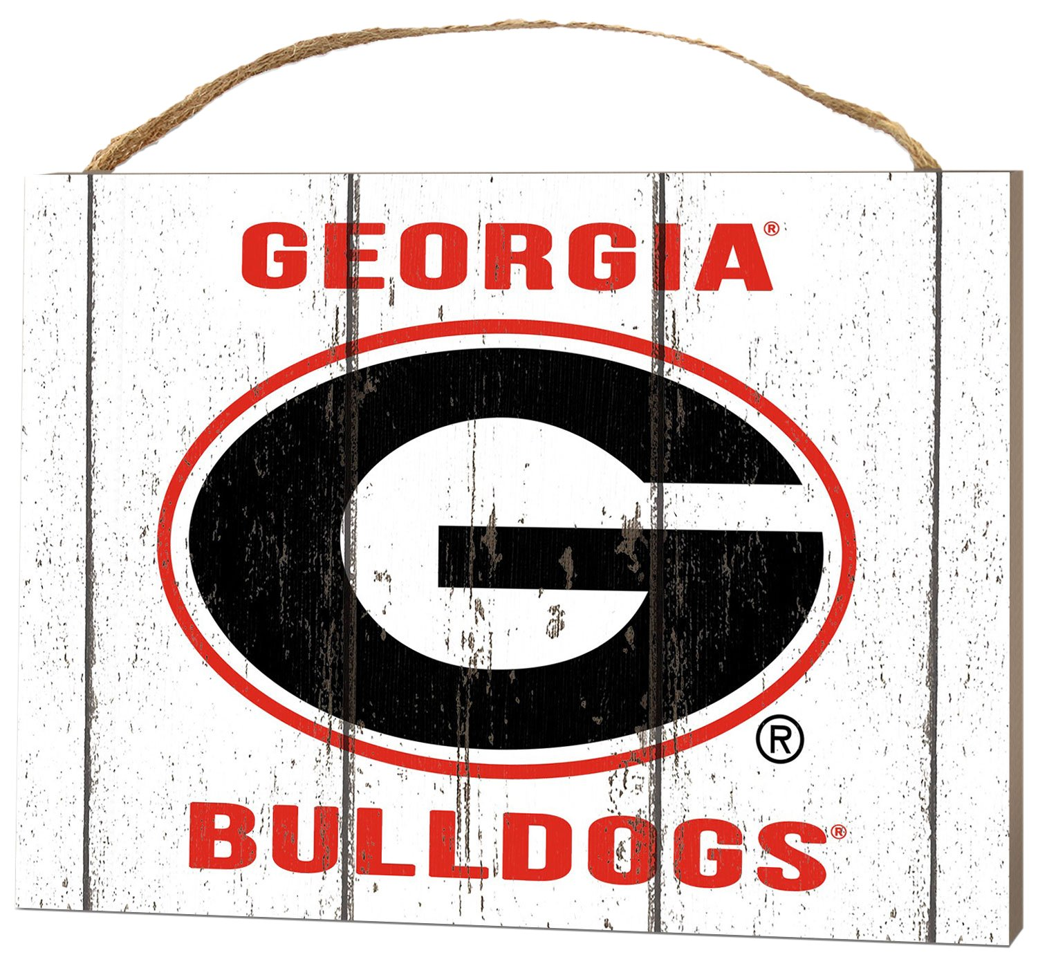 KH Sports Fan 4'' x 5.5'' Georgia Bulldogs Weathered Logo Small College Plaque