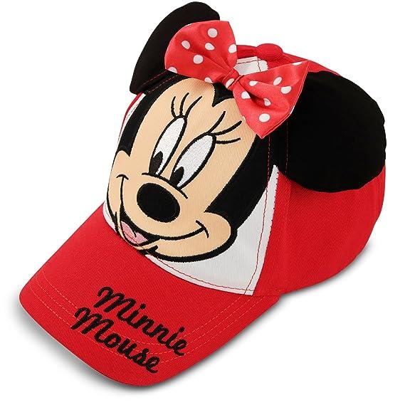 Disney bebé niña Minnie Mouse gorra de béisbol de algodón de lunares ... 007b082feef