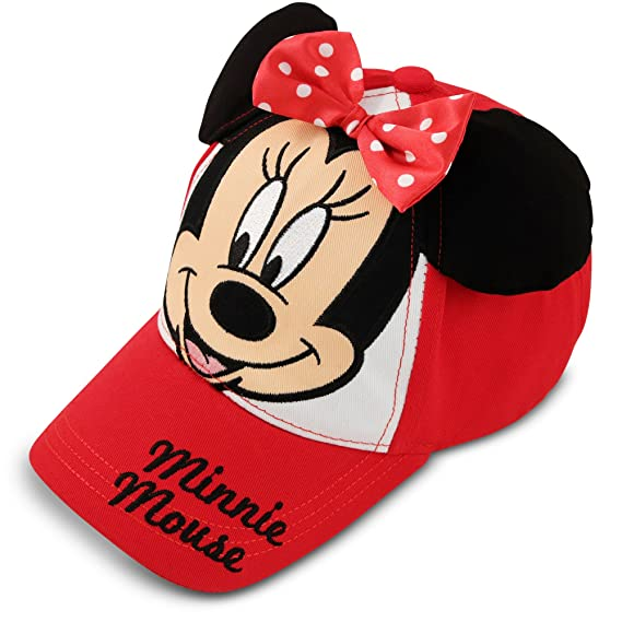 Amazon.com: Disney Girls Toddler Minnie Mouse Bowtique Cotton Baseball Cap, Red Age 2-4: Clothing